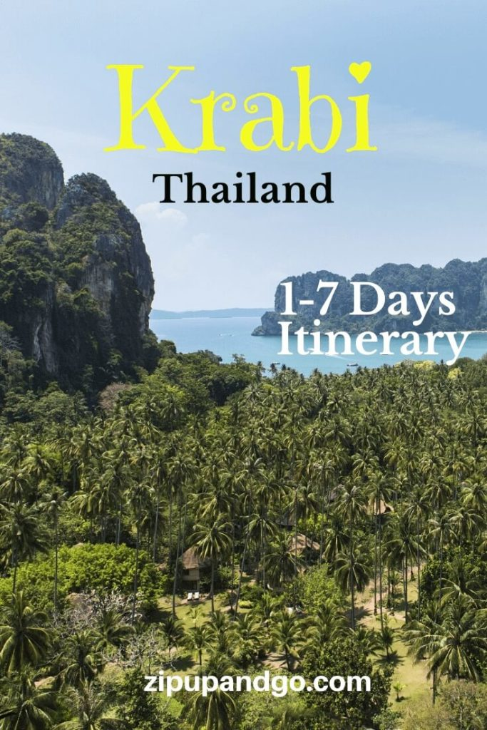 1-7 Days Itinerary Krabi Thailand pin 2