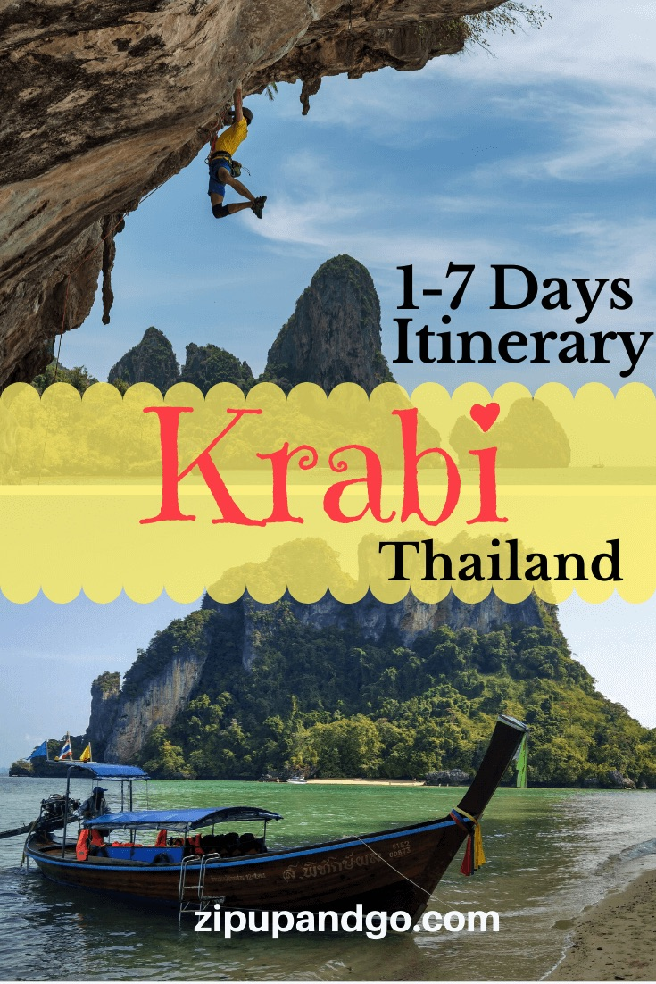 Thailand Krabi itinerary 1 to 7 days pin 1